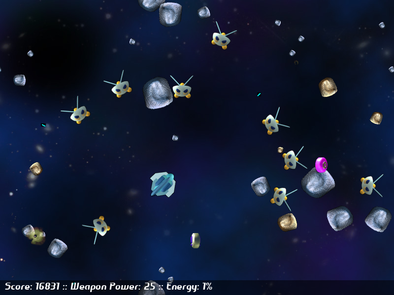 Screen shot of Asteroids Game